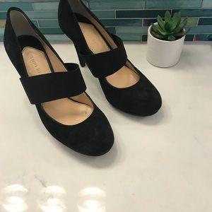 Size 7 Gianni Bini Black heels with strap